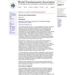 Qu'est ce que le transhumanisme?