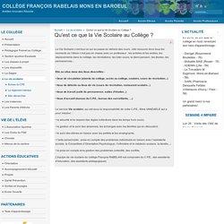 Qu'est ce que la Vie Scolaire au Collège ?