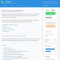Qu'est-ce que WinSCP ?
