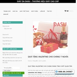 Quà tặng valentine cho chàng ý nghĩa - DASU Việt Nam