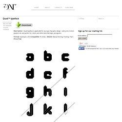 Quad typeface