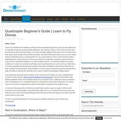 Quadcopter Beginner's Guide