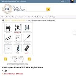 Quadcopter Drone w/ HD Wide Angle Camera