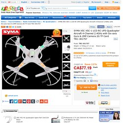 SYMA X5C X5C-1 LCD RC Quadcopter 4CH 2.4GHz w 6-axis 2MP Camera TRC-301757