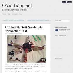 Arduino Multiwii Quadcopter Connection Test