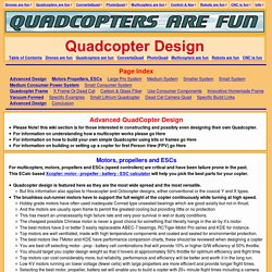 Quadcopter Design