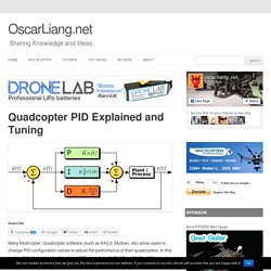 Quadcopter PID Explained and Tuning
