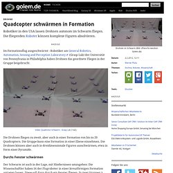 Drohne: Quadcopter schwärmen in Formation
