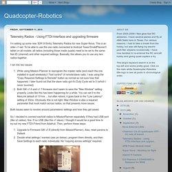 Quadcopter-Robotics: Telemetry Radios - Using FTDI-Interface and upgrading firmware