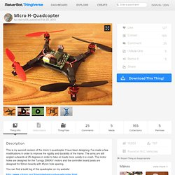 Micro H-Quadcopter by ukarmy04