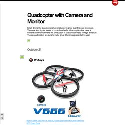 Quadcopter with Camera and Monitor
