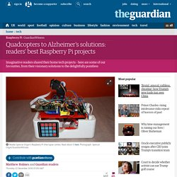 Quadcopters to Alzheimer's solutions: readers' best Raspberry Pi projects
