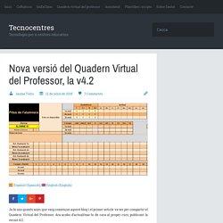 Nova versió del Quadern Virtual del Professor, la v4.2