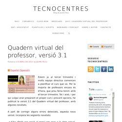 Quadern virtual del professor, versió 3.1