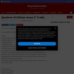Quaderno di italiano classe 3^ il mito
