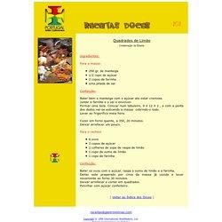 Quadrados de Limão- Roteiro Gastronómico de Portugal