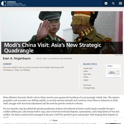 Modi's China Visit: Asia's New Strategic Quadrangle - Carnegie Endowment for International Peace