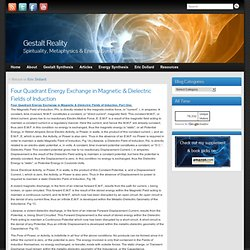 Four Quadrant Energy Exchange in Magnetic & Dielectric Fields of Induction