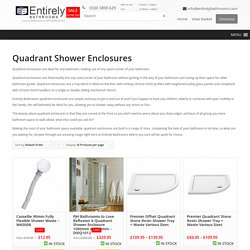 Offset Quadrant Shower Enclosures London, UK - Entirely Bathrooms