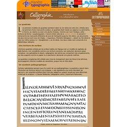La quadrata: une écriture romaine quadrangulaire inspirée de la capitale romaine