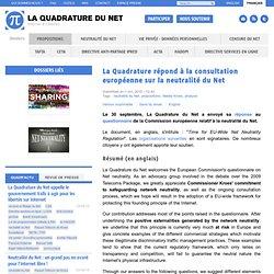 La Quadrature répond à la consultation européenne sur la neutralité du Net