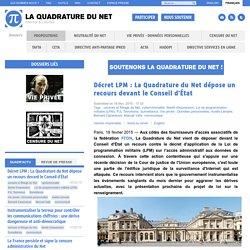 Décret LPM : La Quadrature du Net dépose un recours devant le Conseil d'État