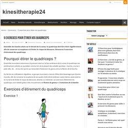 5 exercices pour étirer vos quadriceps – kinesitherapie24