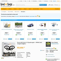 Helicopters - Parrot AR.Drone 2.0 Quadricopter - SPRING SALE (Yuppie Gadgets) for sale in Cape Town (ID:112993423)