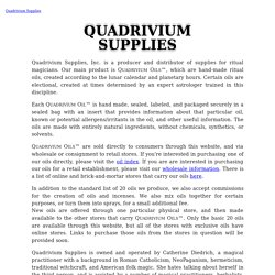 Quadrivium Supplies - Makers of ritual oils