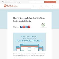 Create A Social Media Calendar Template