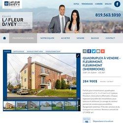 Quadruplex à vendre à Fleurimont (Sherbrooke) (MLS:11678627) - Équipe Lafleur Davey - Agence Lafleur Davey
