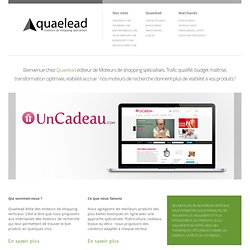 Quaelead : performance Emarketing & Ecommerce, comparateurs spécialisés