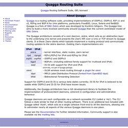 Quagga Software Routing Suite