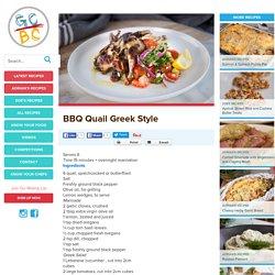 BBQ Quail Greek Style