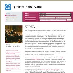 Quakers in the World - Anti-Slavery