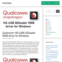 Qualcomm HS-USB QDloader 9008 driver for Windows