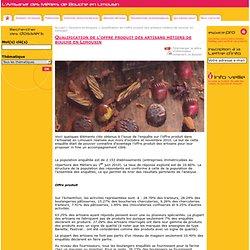 CRMA LIMOUSIN - AVRIL 2011 - Résultats enquête : Qualification de l'offre produit des artisans métiers de bouche en Limousin