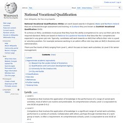 National Vocational Qualification