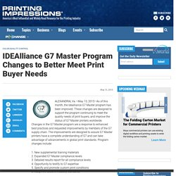 Idealliance Announces G7 Master Qualification Enhancements