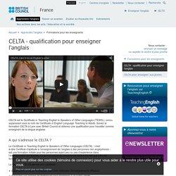CELTA - qualification pour enseigner l'anglais