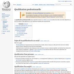 Qualification professionnelle