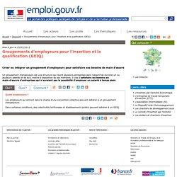 Groupements d'employeurs pour l'insertion et la qualification (GEIQ)