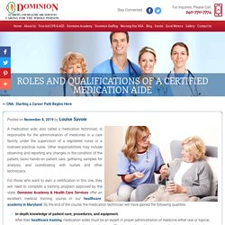 Roles and Qualifications of a Certified Medication Aide