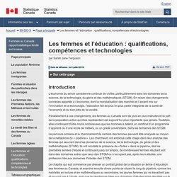 Les femmes et l'éducation : qualifications, compétences et technologies