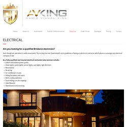Brisbane Electrician - theavking