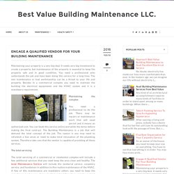 Total Building Maintenance Services in Dubai