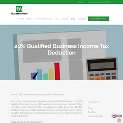 20% Qualified Business Income Tax Deduction