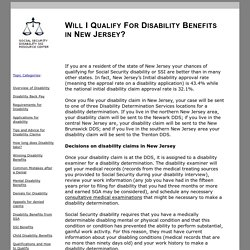 WILL I QUALIFY FOR DISABILITY BENEFITS IN NEW JERSEY?