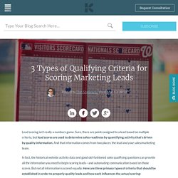 3 Types of Qualifying Criteria for Scoring Marketing Leads