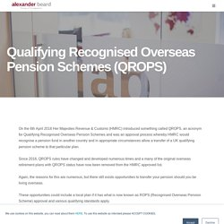 Qrops in USA - Qualifying Recognised Overseas Pension Scheme USA